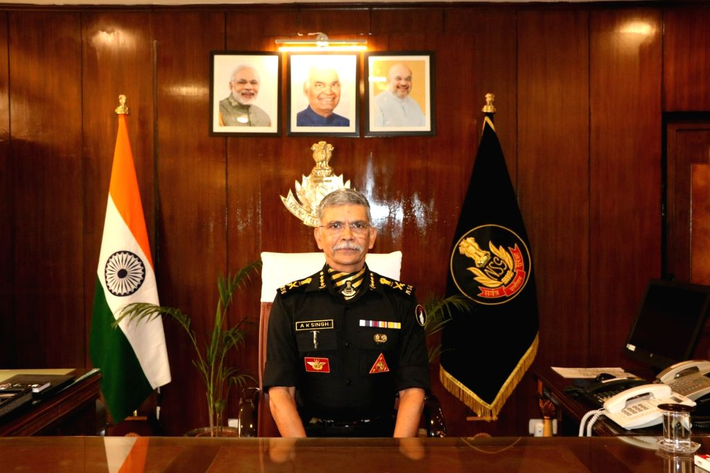 Senior IPS officer of Gujarat cadre Anup Kumar Singh takes charge as the new Director General of National Security Guard, in New Delhi on Oct 29, 2019. - Anup Kumar Singh