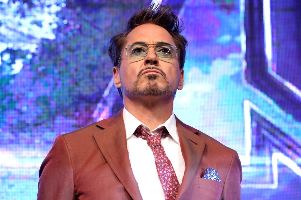 """Seoul: Hollywood star Robert Downey, Jr. poses for a photo during a press conference in Seoul on April 15, 2019, to promote the new movie """"Avengers: Endgame."""" The movie will be released in South Korea on April 24. (Yonhap/IANS)"""
