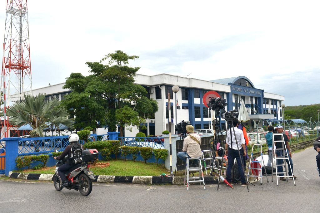 SEPANG, March 2, 2017 - Journalists wait for a Democratic People's Republic of Korea (DPRK) suspect outside Sepang District Police Headquarters in Sepang, Malaysia, on March 2, 2017. Malaysia's ...