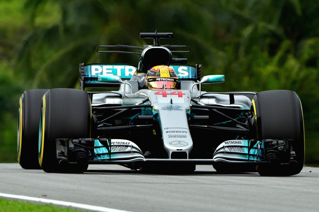 SEPANG, Oct. 1, 2017 - Mercedes driver Lewis Hamilton of Britain drives at the Formula One Malaysia Grand Prix at the Sepang Circuit in Malaysia, on Oct. 1, 2017. Max Verstappen claimed the title of ...