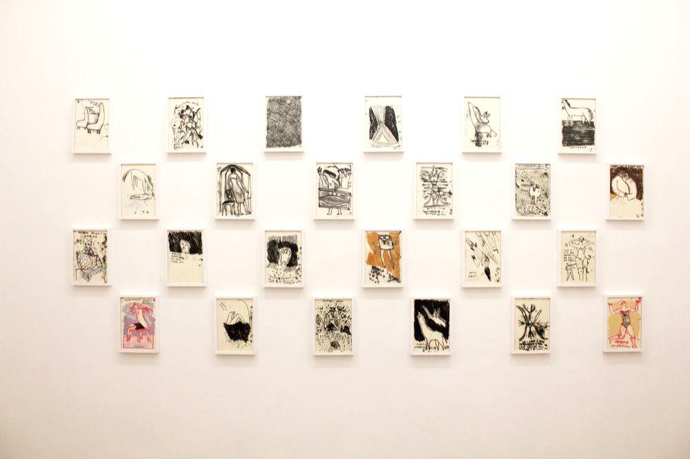 Several exhibited drawings by Renuka Rajiv . (Source: FICA/Vahdera Art Gallery)