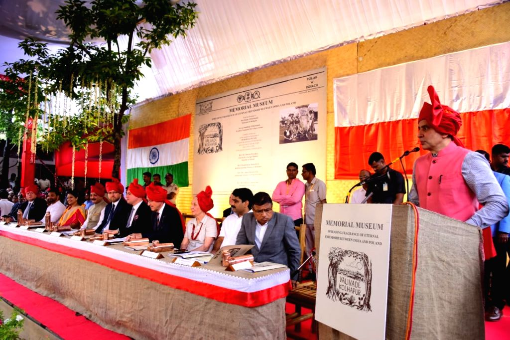 "Several surviving Polish refugees, sporting the traditional Maharashtrian 'Pheta' attended the unveiling of the ""Memorial Pillar"" and the site for the proposed 'Memorial Museum' ..."