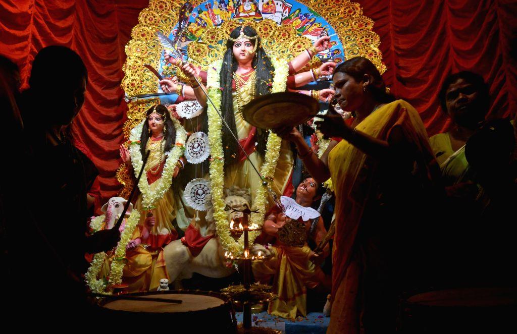 First Durga Puja in Sonagachi