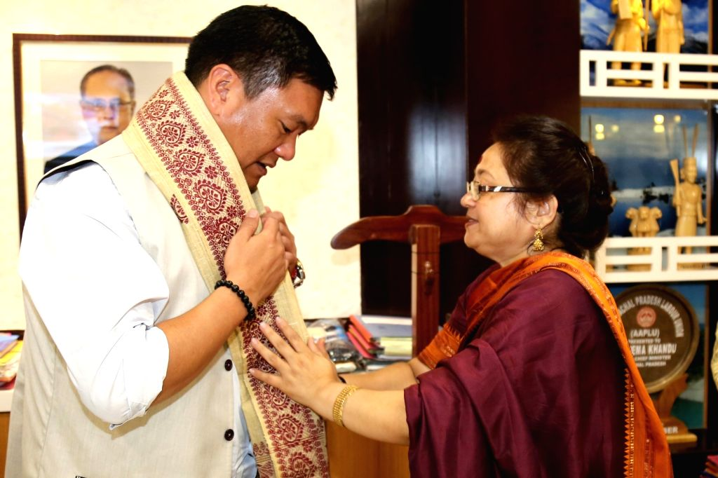 SFRTI Director Dr. Debamitra Mitra calls on Arunachal PradeshChief Minister Pema Khandu a day after National Film and Television Institute and Animation (NFTIA), sister branch of Satyajit ... - Pema Khandu