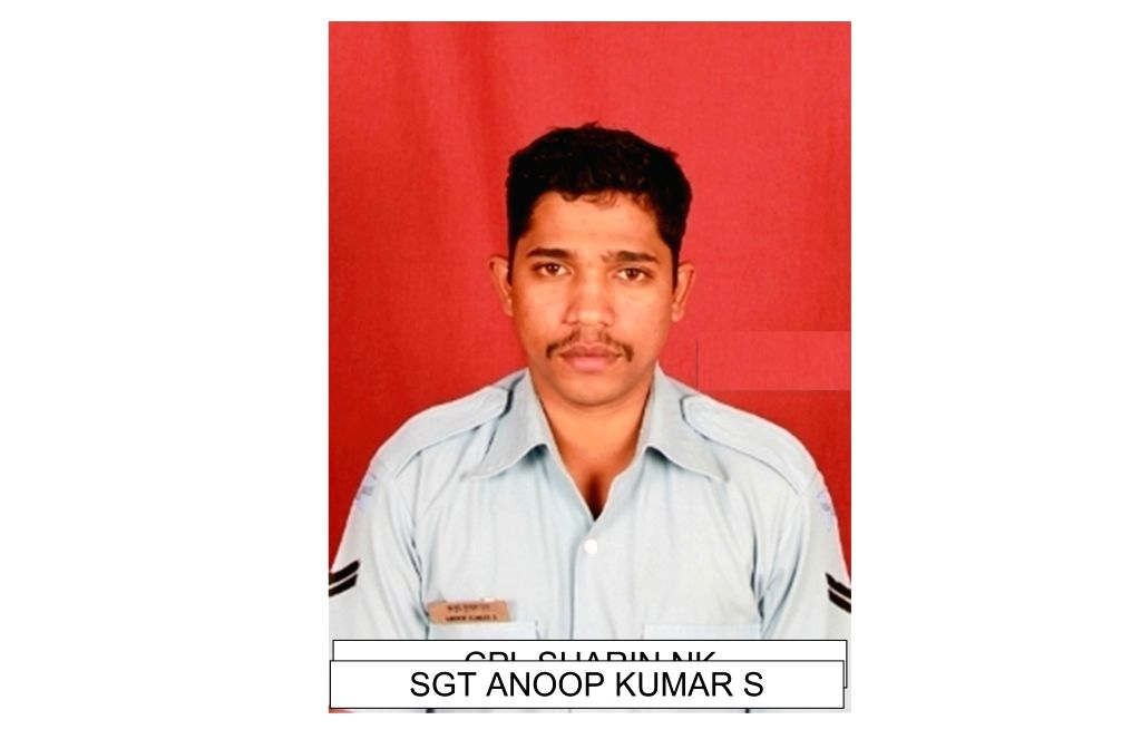 SGT Anoop Kumar S one of the 13 persons who died in An-32 aircraft crash in Arunachal Pradesh on June 3. - Anoop Kumar S