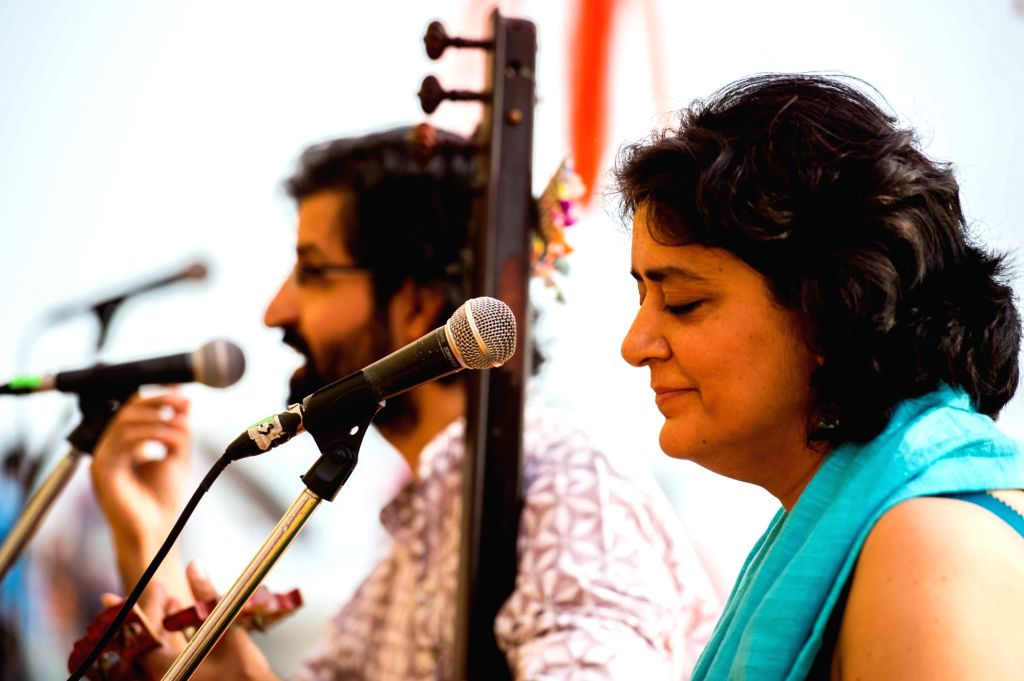 Shabnam Virmani and Vipul Rikhi reflecting on Kabir's Dohas through music and poetry at the festival in Varanasi. The artistes articulated various emotions and moods of the mystic poet ...