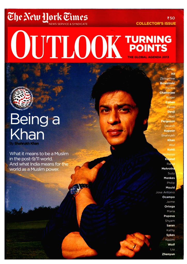 Shah Rukh Khan on Outlook Magazine Cover Page - Rukh Khan