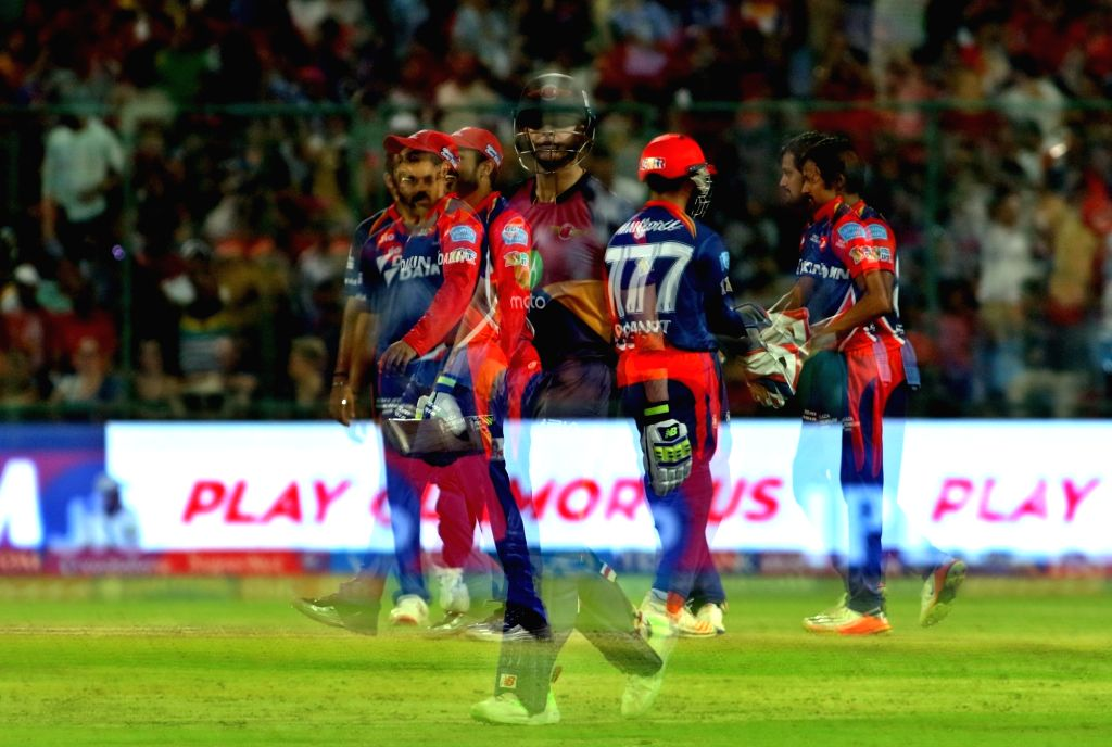 Shahbaz Nadeem of the Delhi Daredevils celebrates the wicket of Rising Pune Supergiant captain Steven Smith during match between the Delhi Daredevils and the Rising Pune Supergiant held ... - Steven Smith