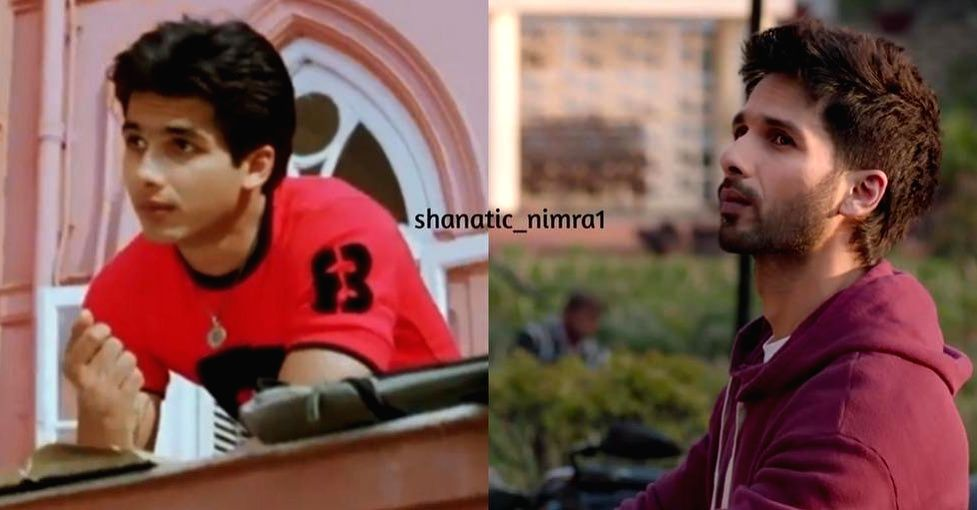 """Shahid Kapoor's wife has shared a photograph of the actor's transition over sixteen years. Mira, on Thursday, shared a a still from """"Ishq Vishk"""", which released in 2003 and a still from ... - Shahid Kapoor and Kabir Singh"""