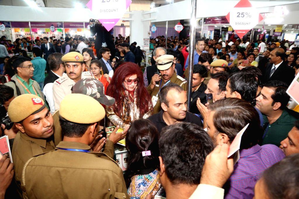 Shahnaz Herbals Inc. CEO Shahnaz Husain at the International Trade Fair (IITF)-2016 at Pragati Maidan in New Delhi on Nov 26, 2016.