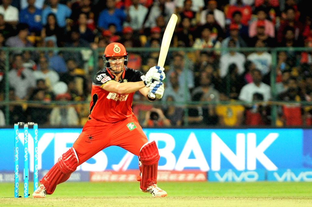 Shane Watson of Royal Challengers Bangalore in action during an IPL match between Royal Challengers Bangalore and Delhi Daredevils at M Chinnaswamy Stadium in Bengaluru, on April 17, 2016.