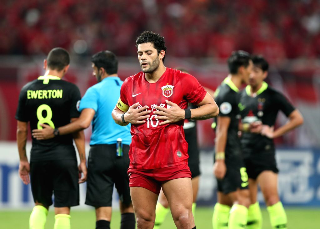 SHANGHAI, Aug. 28, 2019 - Hulk of Shanghai SIPG FC reacts during an AFC Champions League match between Shanghai SIPG FC of China and Urawa Red Diamonds of Japan in Shanghai, east China, Aug. 27, 2019.
