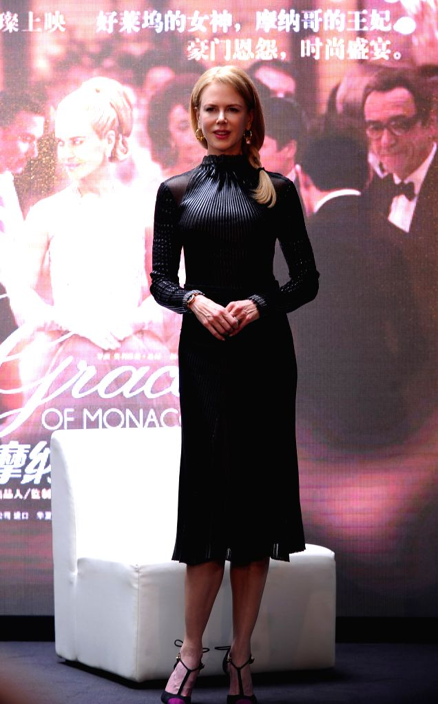 """Actress Nicole Kidman is present at a press conference held for her film """"Grace of Monaco"""" during the 17th Shanghai International Film Festival (SIFF) in - Nicole Kidman"""