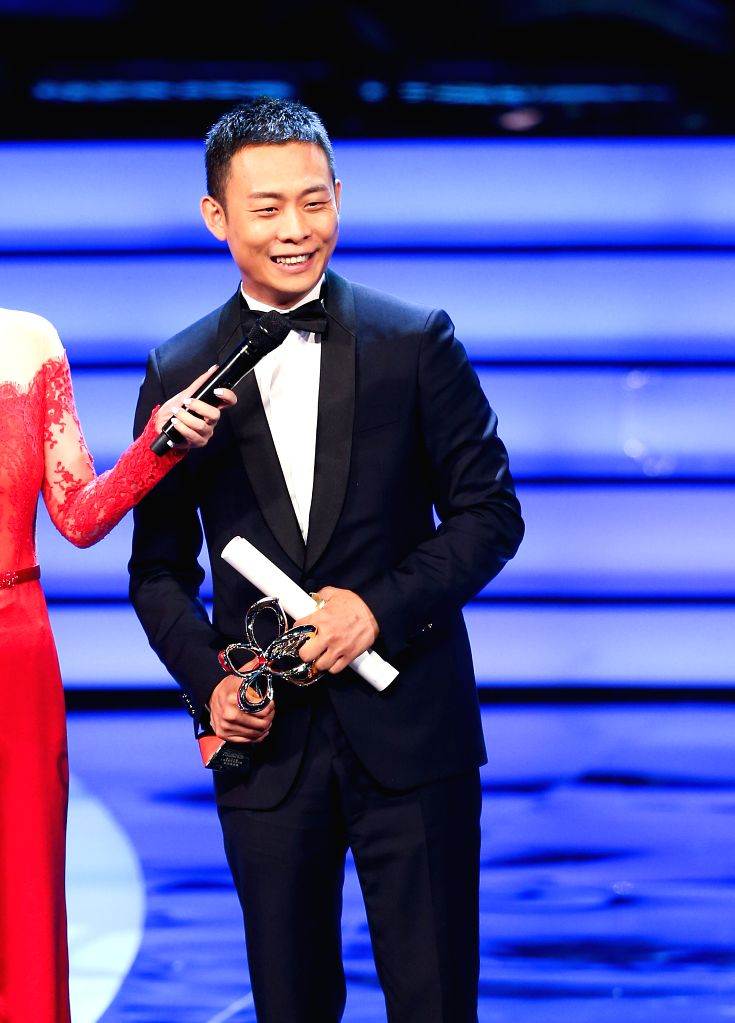 SHANGHAI, June 17, 2017 - Actor Zhang Yi wins Magnolia Award for best actor of the 23rd Shanghai TV Festival, in Shanghai, east China, June 16, 2017. - Zhang Y