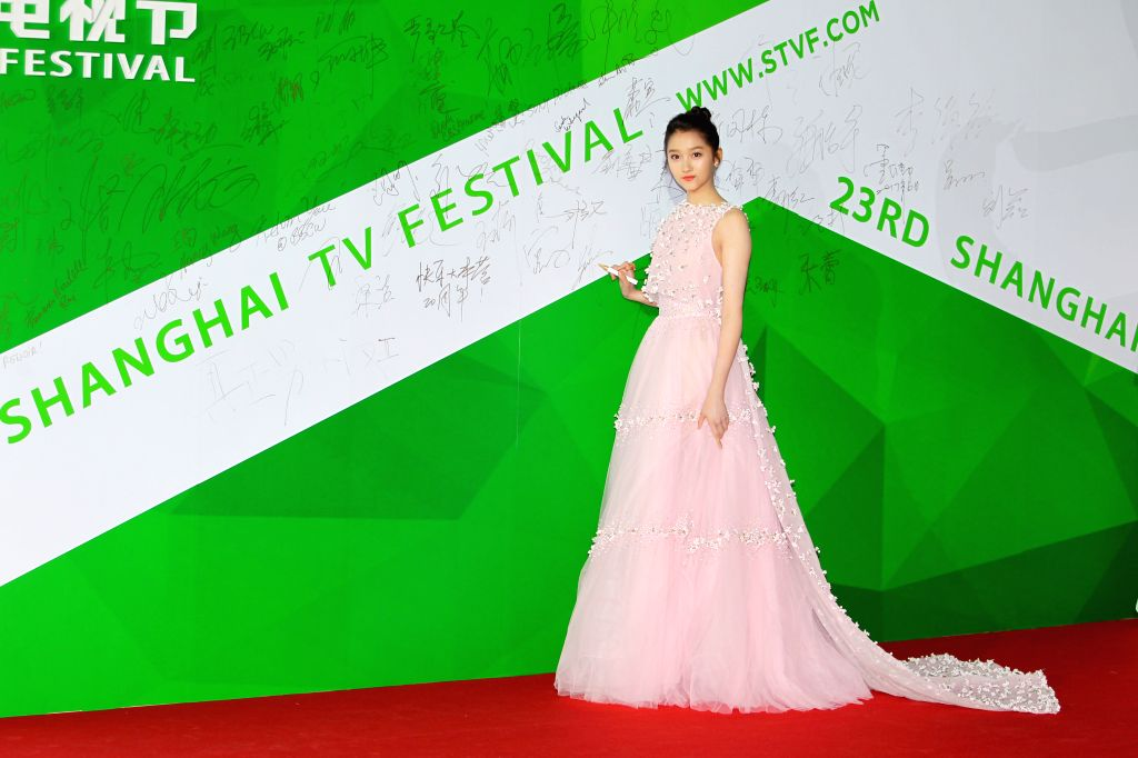 SHANGHAI, June 17, 2017 - Actress Guan Xiaotong attends the Magolia Awards Ceremony of the 23rd Shanghai TV Festival, in Shanghai, east China, June 16, 2017. - Guan Xiaotong