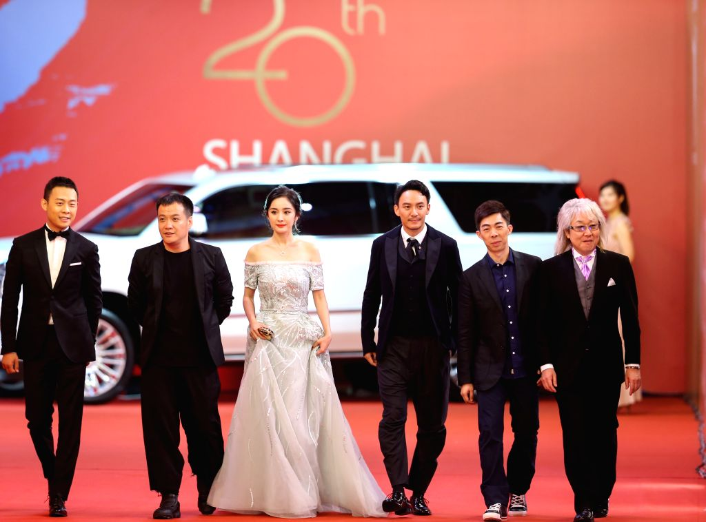 SHANGHAI, June 18, 2017 - Actress Yang Mi (3rd L) and actor Chang Chen (3rd R) attend the 20th Shanghai International Film Festival in Shanghai, east China, June 17, 2017. The 20th Shanghai ... - Yang M