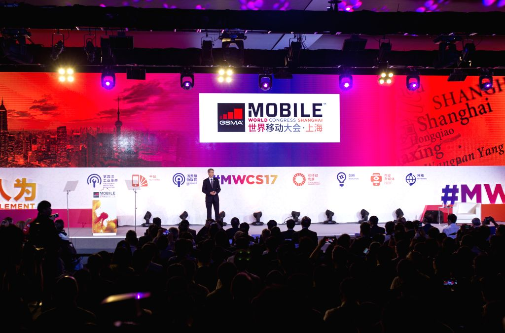 SHANGHAI, June 28, 2017 - Photo taken on June 28, 2017 shows scene of keynote speech during the Mobile World Congress 2017 in Shanghai, east China. The event featured its world-class industry ...