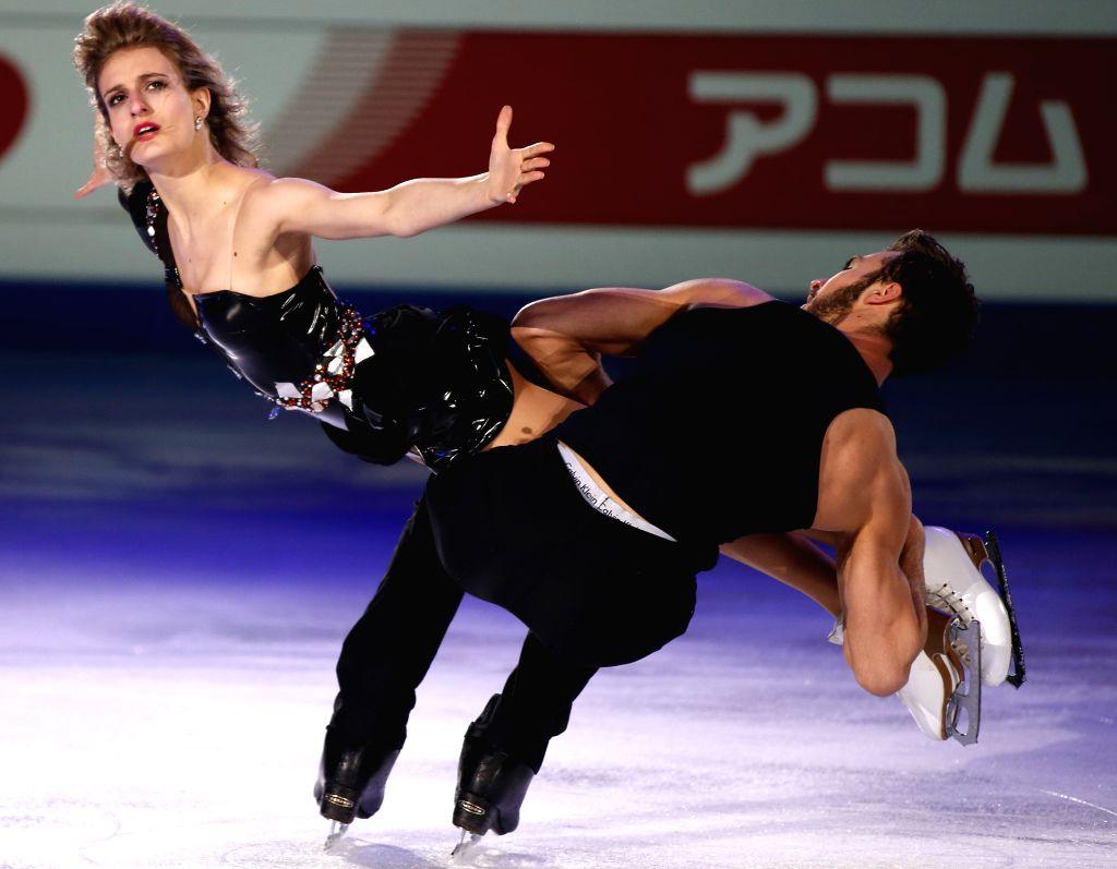 Gabriella Papadakis and Guillaume Cizeron of France perform during Gala Exhibition in ISU World Figure Skating Championships 2015 at Crown Indoor Stadium, ...
