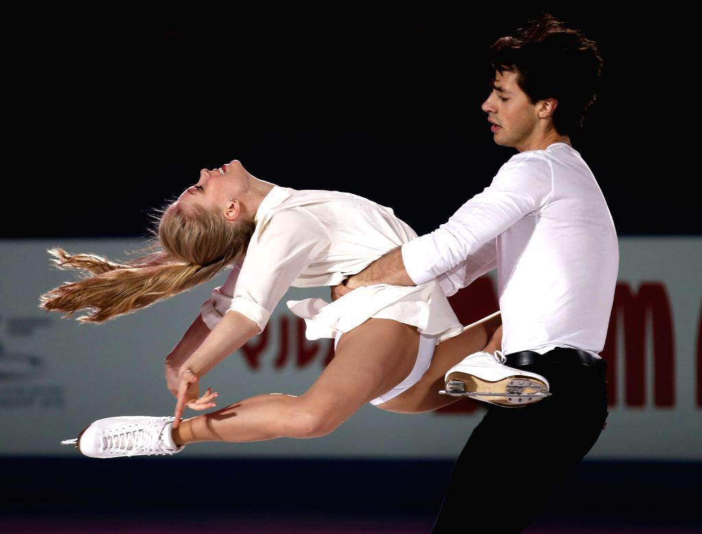 Kaitlyn Weaver (L) amd Andrew Poje of Canada perform during Gala Exhibition in ISU World Figure Skating Championships 2015 at Crown Indoor Stadium, Oriental ...