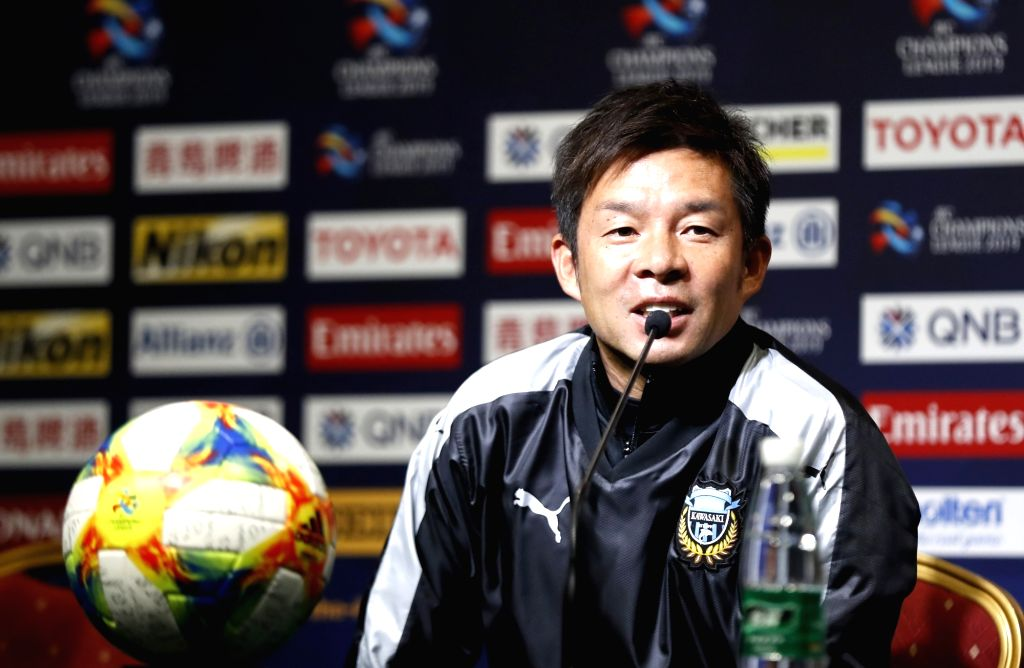 SHANGHAI, March 5, 2019 - Japan's Kawasaki Frontale's head coach Toru Oniki answers a question during the pre-match press conference one day ahead of the group H match between China's Shanghai SIPG ...