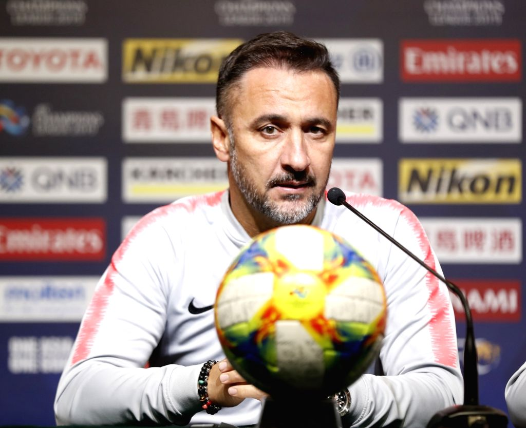 SHANGHAI, March 5, 2019 - Shanghai SIPG FC head coach Vitor Pereira answers a question during the pre-match press conference one day ahead of the group H match against Japan's Kawasaki Frontale at ...