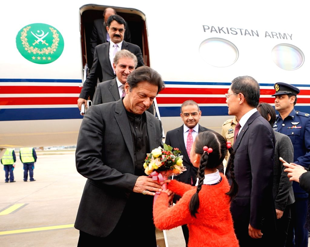 SHANGHAI, Nov. 4, 2018 - Pakistani Prime Minister Imran Khan arrives in Shanghai, east China, Nov. 4, 2018, to attend the first China International Import Expo (CIIE) which runs from Nov. 5 to 10. - Imran Khan