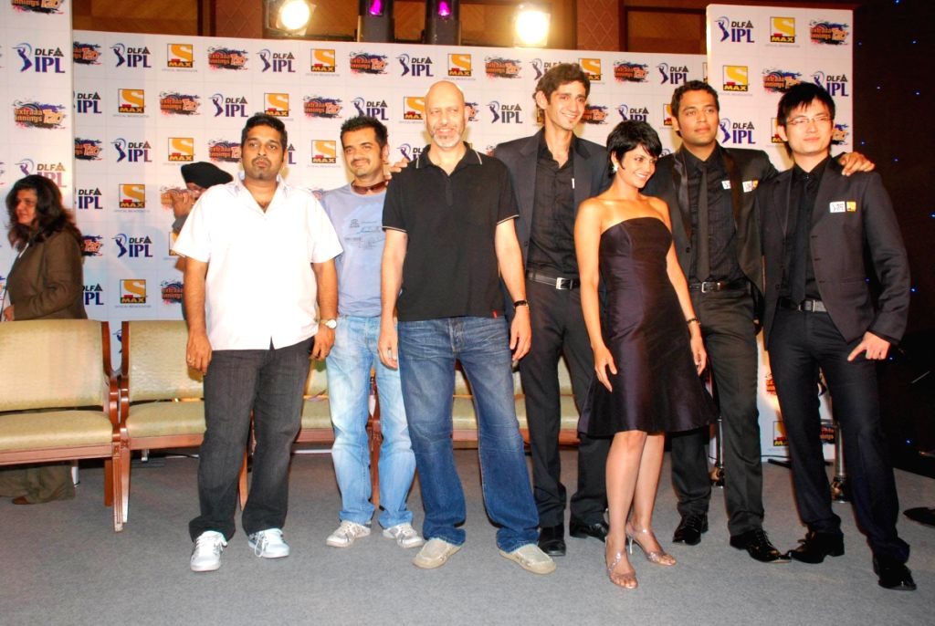 Shankar, Eshaan,Loy and Mandira at Sony IPL Press Meet in Mumbai.