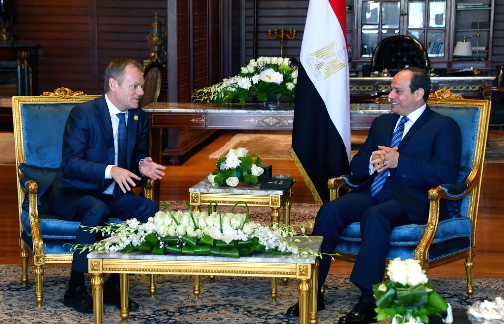 SHARM EL-Egyptian President Abdel-Fattah al-Sisi (R) meets with European Council President Donald Tusk in Sharm el-Sheikh, Egypt on Feb. 24, 2019. The two will ...