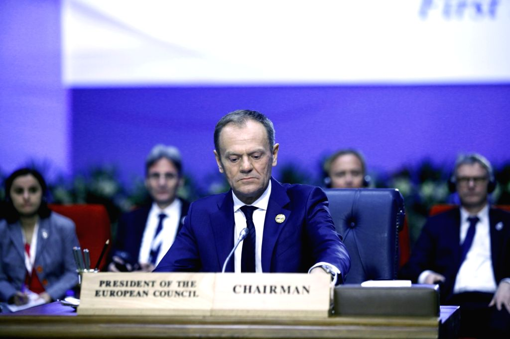 SHARM EL-SHEIKH (EGYPT), Feb. 24, 2019 European Council President Donald Tusk (Front) attends the first League of Arab States (LAS)-EU Summit in Sharm el-Sheikh, Egypt, on Feb. 24, 2019. ...
