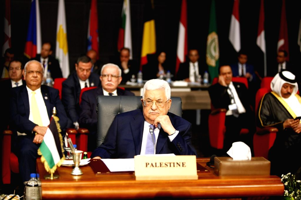 SHARM EL-SHEIKH (EGYPT), Feb. 24, 2019 Palestinian President Mahmoud Abbas (Front) attends the first League of Arab States (LAS)-EU Summit in Sharm el-Sheikh, Egypt, on Feb. 24, 2019. The ...