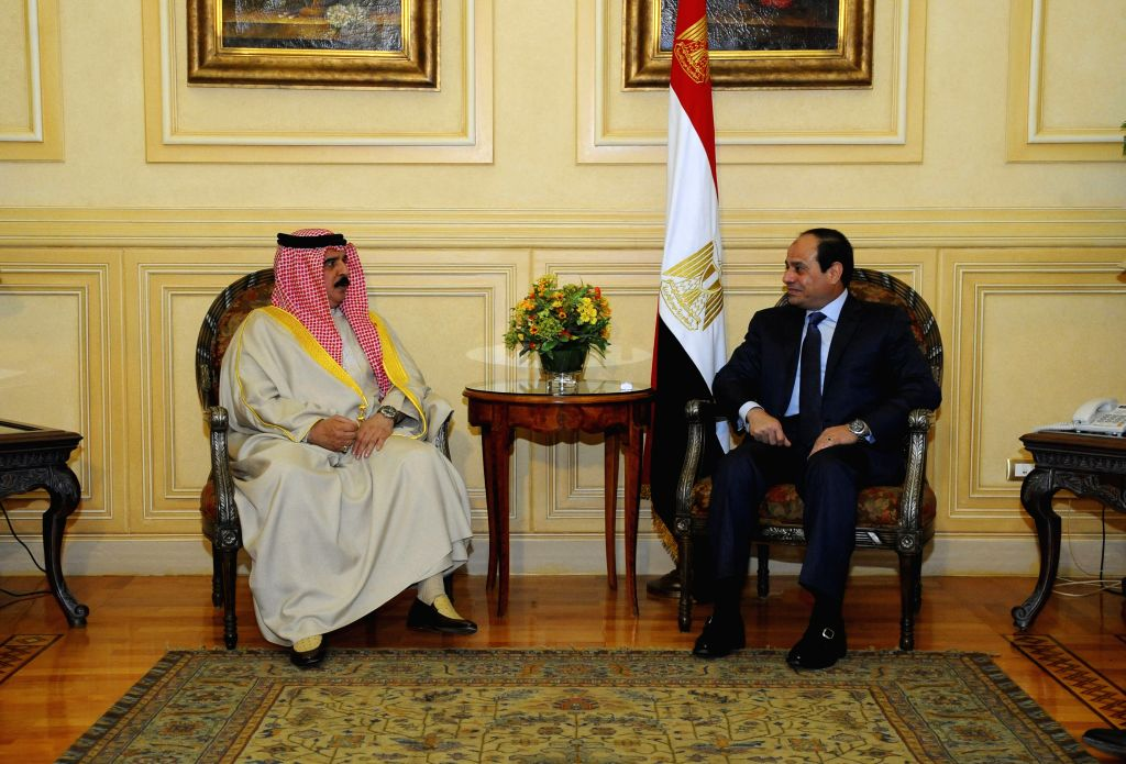 SHARM EL-The handout photo from Egypt's state-run news agency MENA shows Egyptian President Abdel-Fattah al-Sisi (R) meeting with Yemeni President Abd-Rabbo Mansour ...