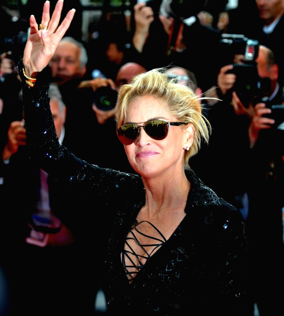 """:Sharon Stone arrives at the red carpet for the screening of the film """"The Search"""" at the 67th Cannes Film Festival in Cannes, southern France, on May 21, 2014. ..."""