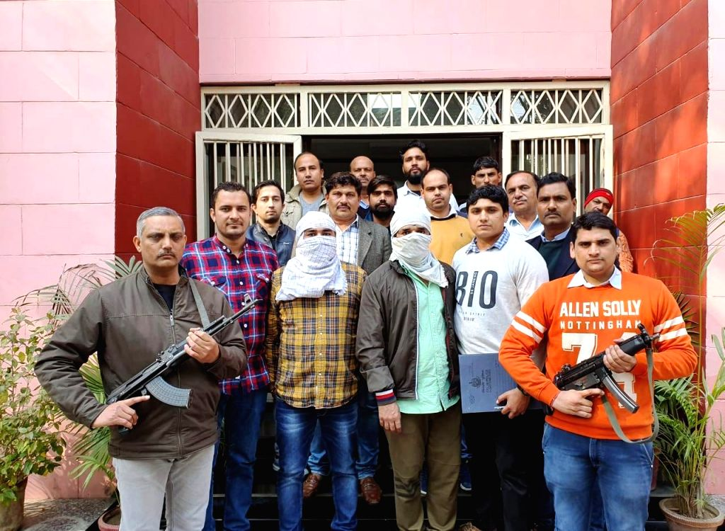 Sharp Shooters Dabang and Muniya in the custody of Delhi Police Special Cell.
