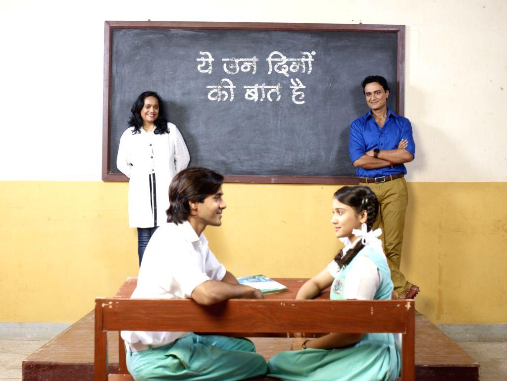Shashi and Sumeet Mittal Producers - Yeh Un Dinon Ki Baat Hai with Randeep Rai (in uniform) & Ashi Singh (in uniform) - Randeep Rai and Ashi Singh