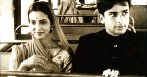 "Shashi Kapoor and Leela Naidu in his first Merchant-Ivory film ""The Householder"" - Shashi Kapoor and Leela Naidu"