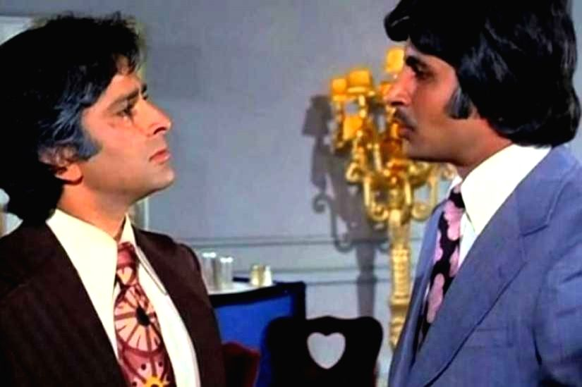 "Shashi Kapoor in a more serious role - opposite Amitabh Bachchan in ""Kabhie Kabhie - Shashi Kapoor and Amitabh Bachchan"