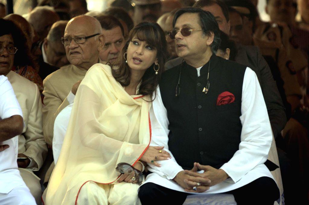 Shashi Tharoor and his wife Sunanda Pushkar. (Photo: IANS) - Shashi Tharoor