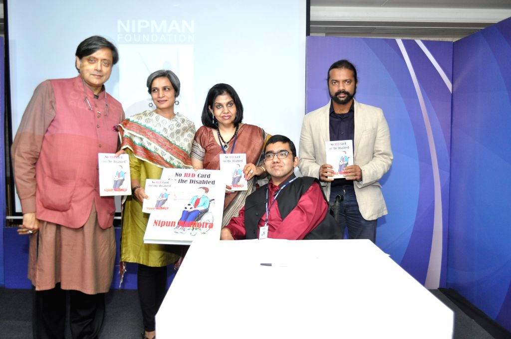 Shashi Tharoor launching the graphic novel on disability written - Shashi Tharoor