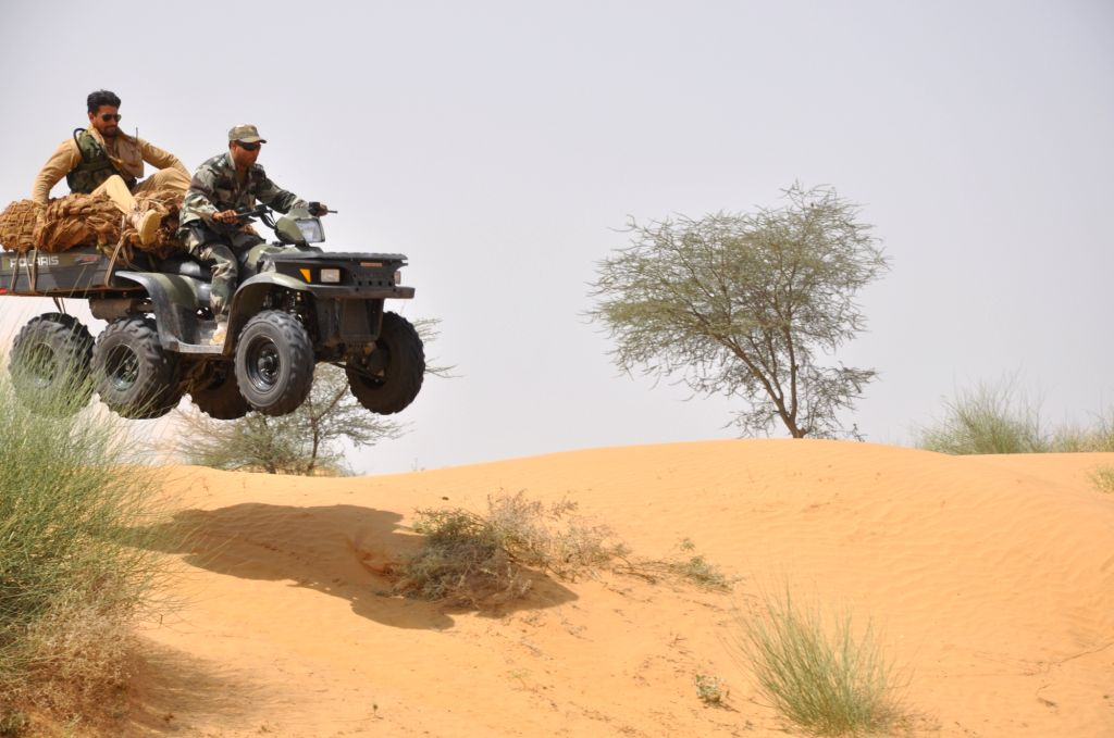 Shatrujeet - military exercise underway in the deserts of Rajasthan.