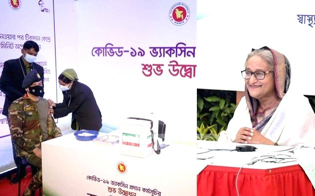 Sheikh Hasina thanks India for 2 million vaccine doses.