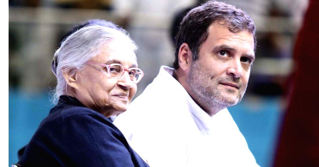 Sheila Dikshit with Rahul Gandhi. (File Photo: IANS) - Sheila Dikshit and Rahul Gandhi