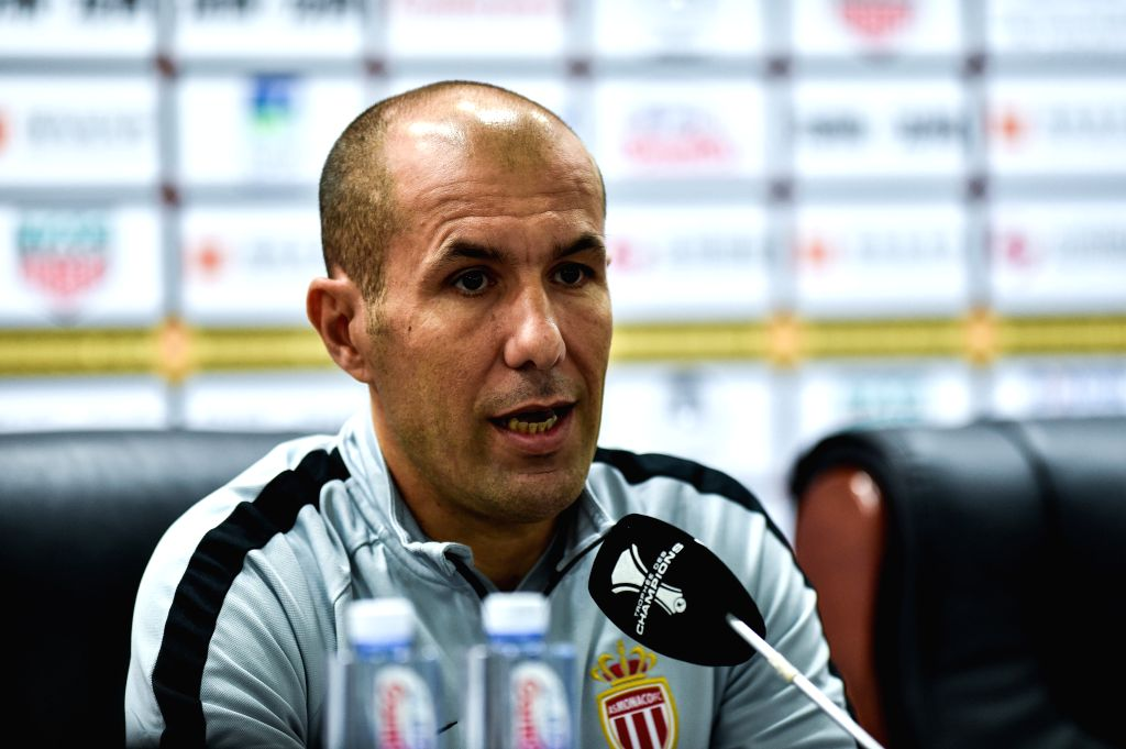 SHENZHEN, Aug. 3, 2018 - Monaco's head coach Leonardo Jardim attends a news conference on the eve of the French Trophy of Champions football match between Monaco and Paris Saint-Germain at ...