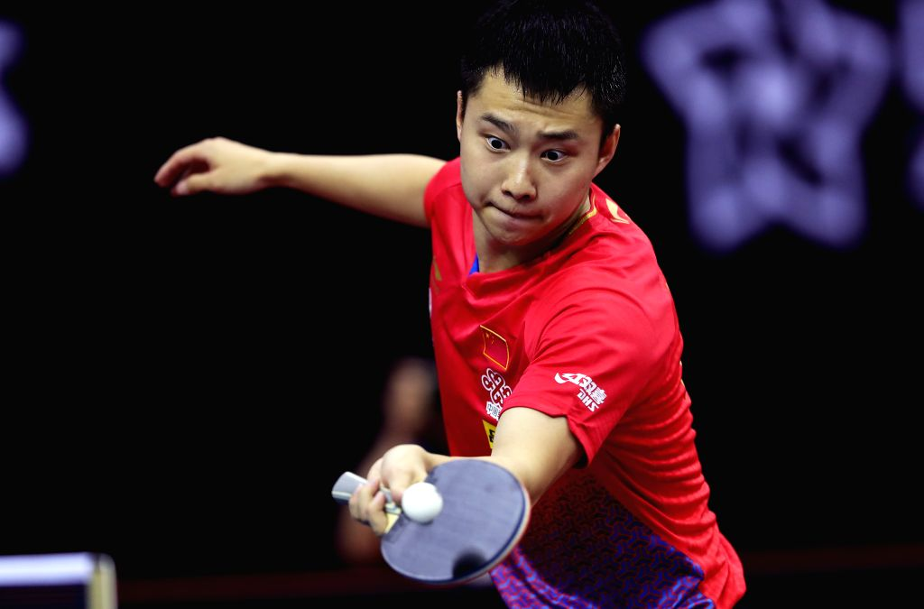 SHENZHEN, May 31, 2019 - China's Yu Ziyang returns the ball during the men's singles round of 16 match against Germany's Timo Boll at ITTF World Tour Platinum China Open in Shenzhen, south China's ...