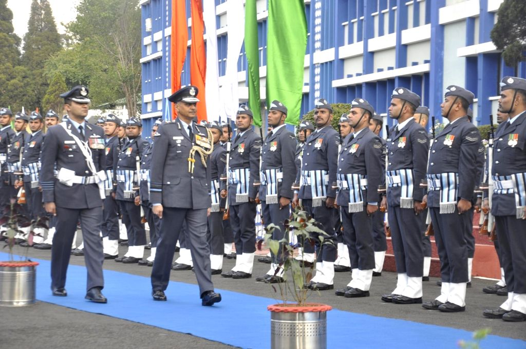 Shillong: Air Marshal Rajiv Dayal Mathur, who took over as the Air Officer Commanding-in-Chief of the Eastern Air Command headquarters in Shillong, Meghalaya on March 1, 2019. (Photo: IANS)