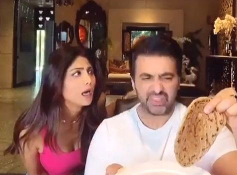 Shilpa shares funny 'food for thought' with hubby Raj