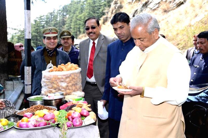 Himachal Pradesh Chief Minister Kalyan Singh in Shimla on March 13, 2015. - Kalyan Singh