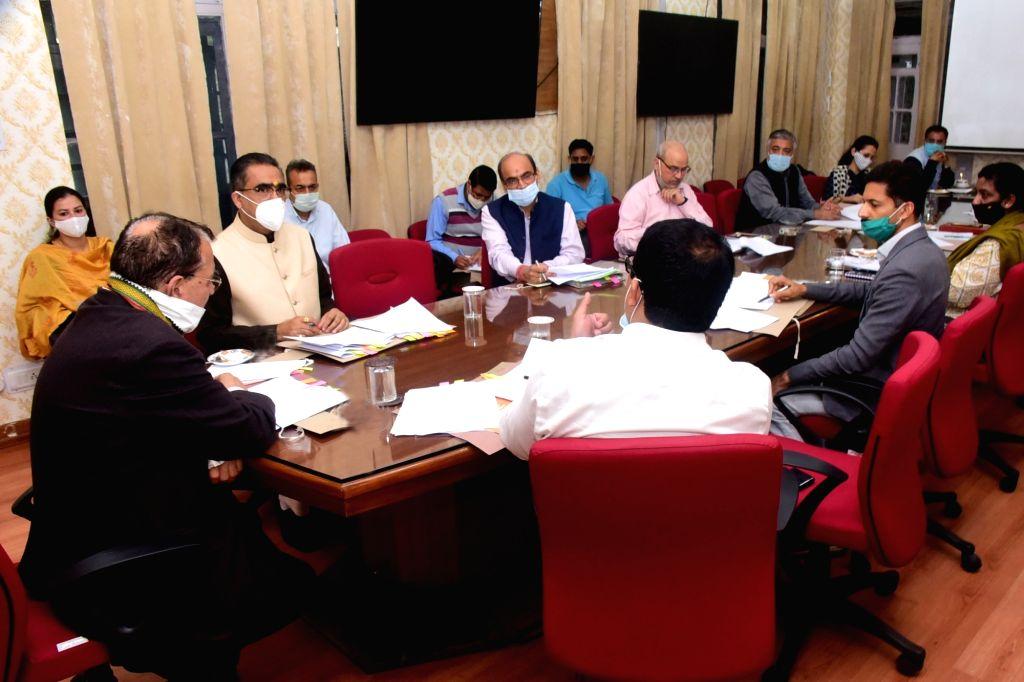 Shimla : Himachal Pradesh Education Minister Suresh Bhardwaj presides over the Cabinet Sub-Committee meeting on 'Vidyarthi Credit Card Scheme' for affordable and simplified Education loan to eligible ... - Suresh Bhardwaj