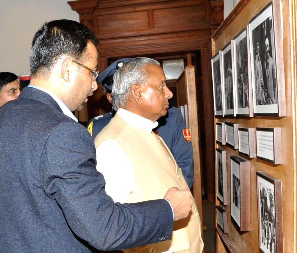 Himachal Pradesh Governor Kalyan Singh during his visit to the Indian Institute of Advanced Study (IIAS) in Shimla on March 12, 2015. - Kalyan Singh