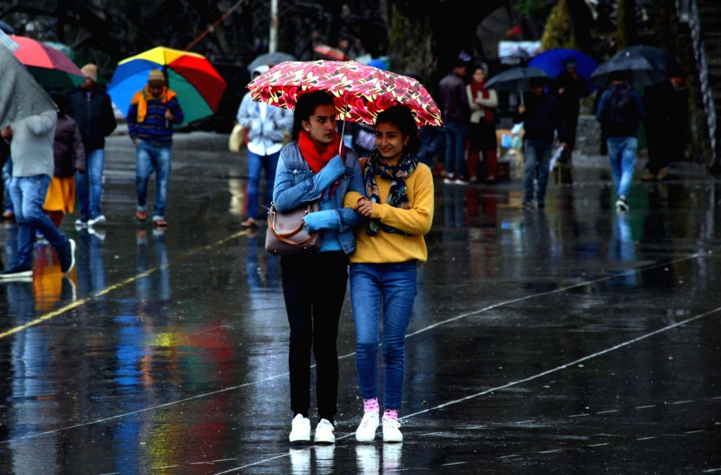 Shimla: Rains lash Shimla on Feb 15, 2019. (Photo: IANS)