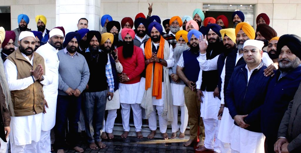 Shiromani Akali Dal (SAD) candidate from Majitha, Bikram Singh Majithia during his visit to Golden Temple in Amritsar after wining his seat in Punjab assembly election results on March 12, ... - Bikram Singh Majithia